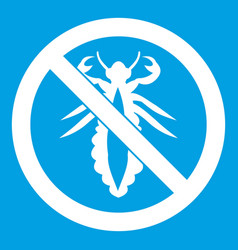 No louse sign icon white vector