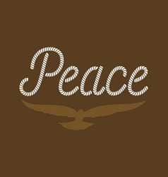 peace typography vector image