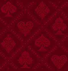 playing cards suits vintage seamless pattern vector image