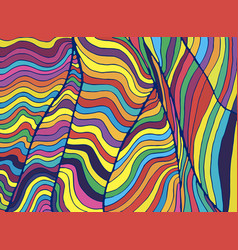 psychedelic colorful waves fantastic art with vector image