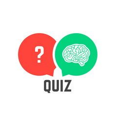 Question mark and brain like quiz vector