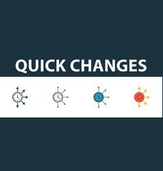 Quick changes icon set premium symbol in vector