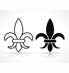 royal french lily icons vector image