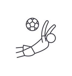 score a goal in football line icon concept score vector image