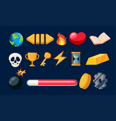 Set of game icon vector
