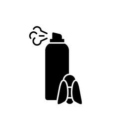 Silhouette repellent outline aerosol spray can vector