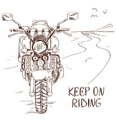Sketch with motorbike vector