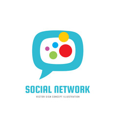 Social media network - logo template vector
