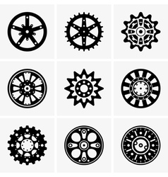 Sprocket wheel vector image