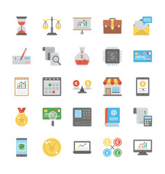 startup and new business flat icons vector image