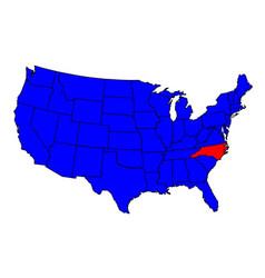 state north carolina location vector image