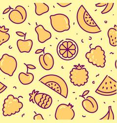 Stylized background fruit icons vector