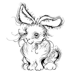 stylized rabbit vector image