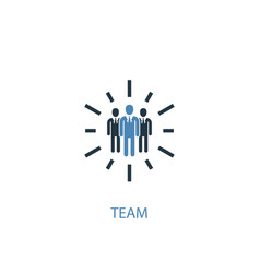 team concept 2 colored icon simple blue element vector image
