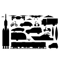transport vehicles set different transport vector image