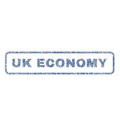 Uk economy textile stamp vector