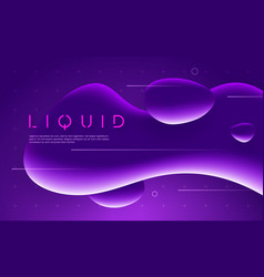 ultraviolet futuristic design with neon liquid vector image