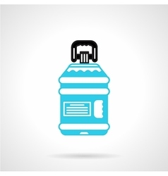 Water bottle with label flat icon vector image