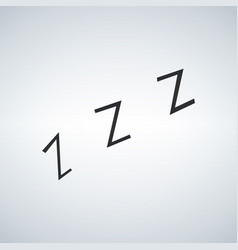 zzz sleeping night sign icon vector image