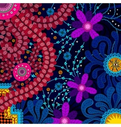Amazing colorful background with flowers vector image