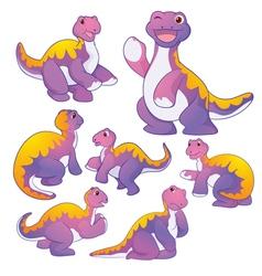 Apatosaurus purple vector image