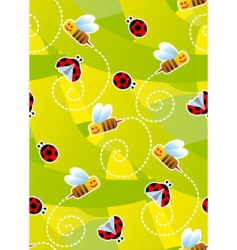 bees and ladybugs vector image vector image