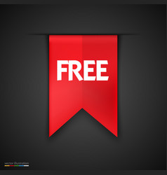 free product red label icon design vector image