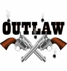 outlaw background vector image vector image