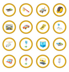 parking icon circle vector image vector image