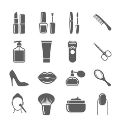 Beauty and makeup icons vector image