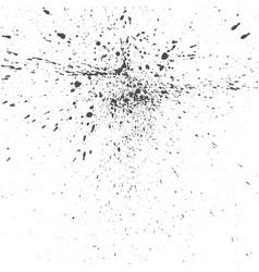 black ink drops grunge texture vector image vector image