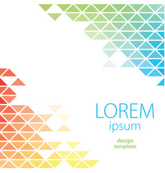 design template lorem ipsum poster vector image