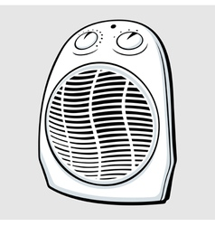 Fan heater vector image vector image