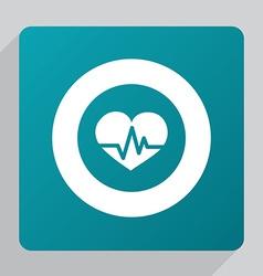 flat heart pulse icon vector image