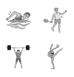 Swimming badminton weightlifting artistic vector
