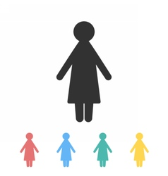 Woman icon in different colors image vector image vector image