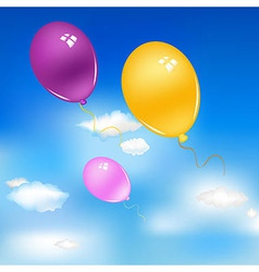 Balloons In Sky vector image vector image