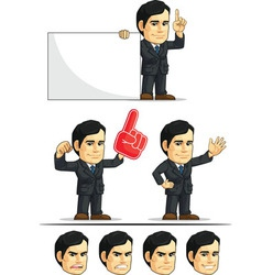 Businessman or Company Executive Customizable 5 vector image vector image