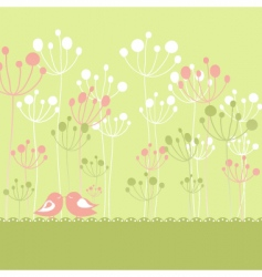 springtime greeting vector image vector image