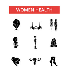 women health thin line icons linear vector image vector image