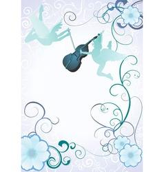 angels violin vector image