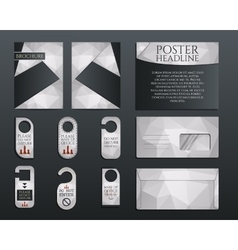 Business corporate branding identity set Brochure vector image vector image