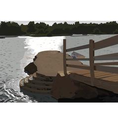 jetty vector image