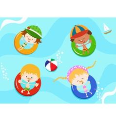 Kids Enjoying Water vector image
