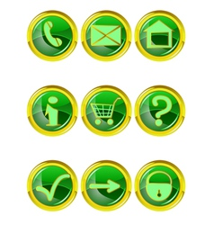 Set of 9 website icons vector image