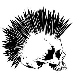 skull punk3 vector image vector image