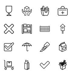 16 box icons vector image