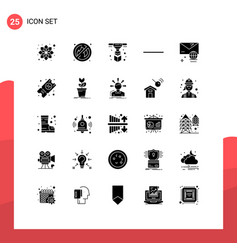 25 creative icons modern signs and symbols of vector