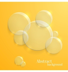 Abstract background with glass glossy circles vector