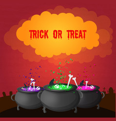 abstract celebrating halloween poster vector image